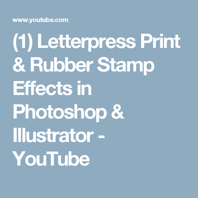 1 letterpress print rubber stamp effects in photoshop