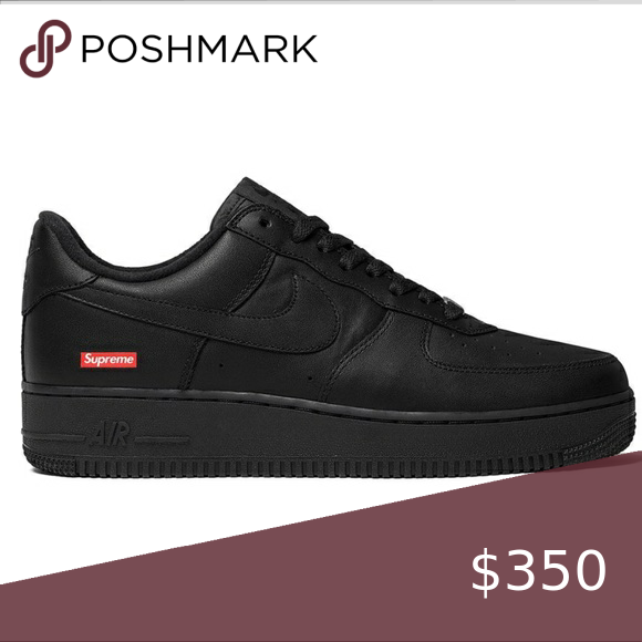 Supreme Air Force 1 Nwt In 2020 Supreme Shoes All Black Sneakers Air Force
