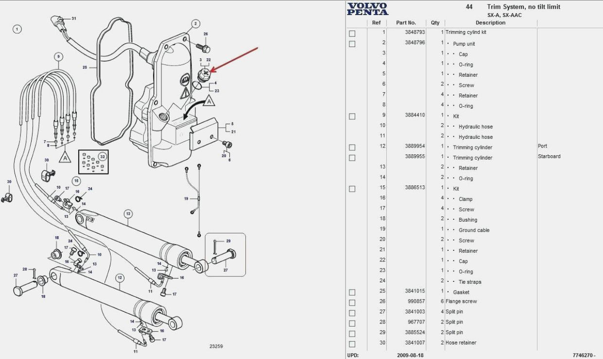 Volvo Penta Sx Outdrive Diagram