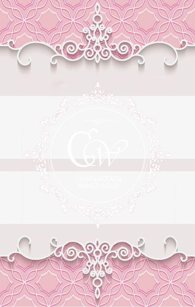 romantic pink wedding background
