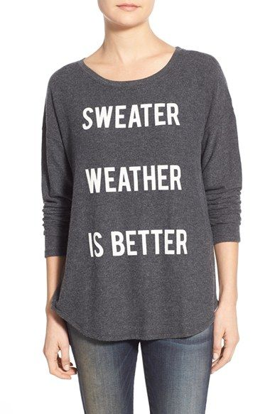Signorelli 'Sweater Weather' Screenprint Dolman Sleeve Sweatshirt available at #Nordstrom