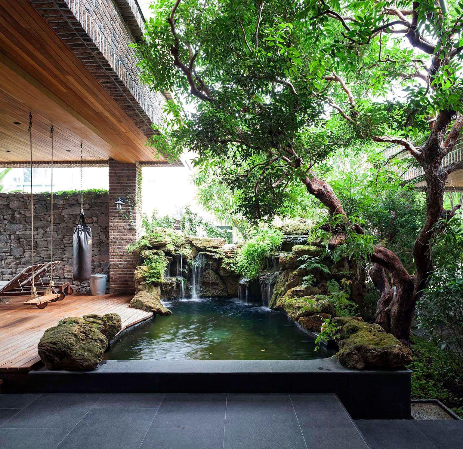 Backyard Pool Pictures Bakyardpoolideas Desain Lanskap Kolam Halaman Belakang Taman Interior