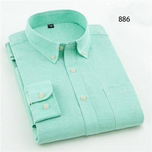 Oxford Men/'s Regular Fit Long Sleeve Business Dress Shirt Aqua