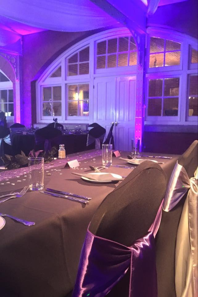 Led Uplighting Adding To The Mood Alternative Wedding Reception