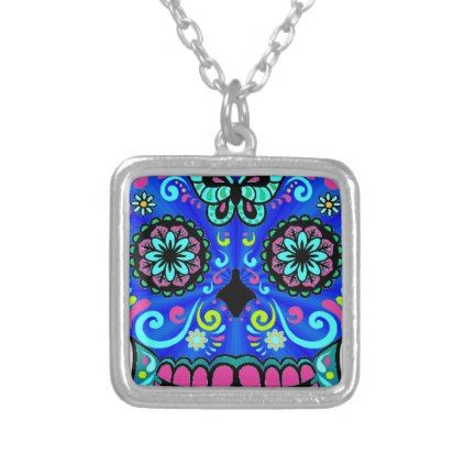 Best Seller Sugar Skull Silver Plated Necklace - jewelry jewellery unique special diy gift present