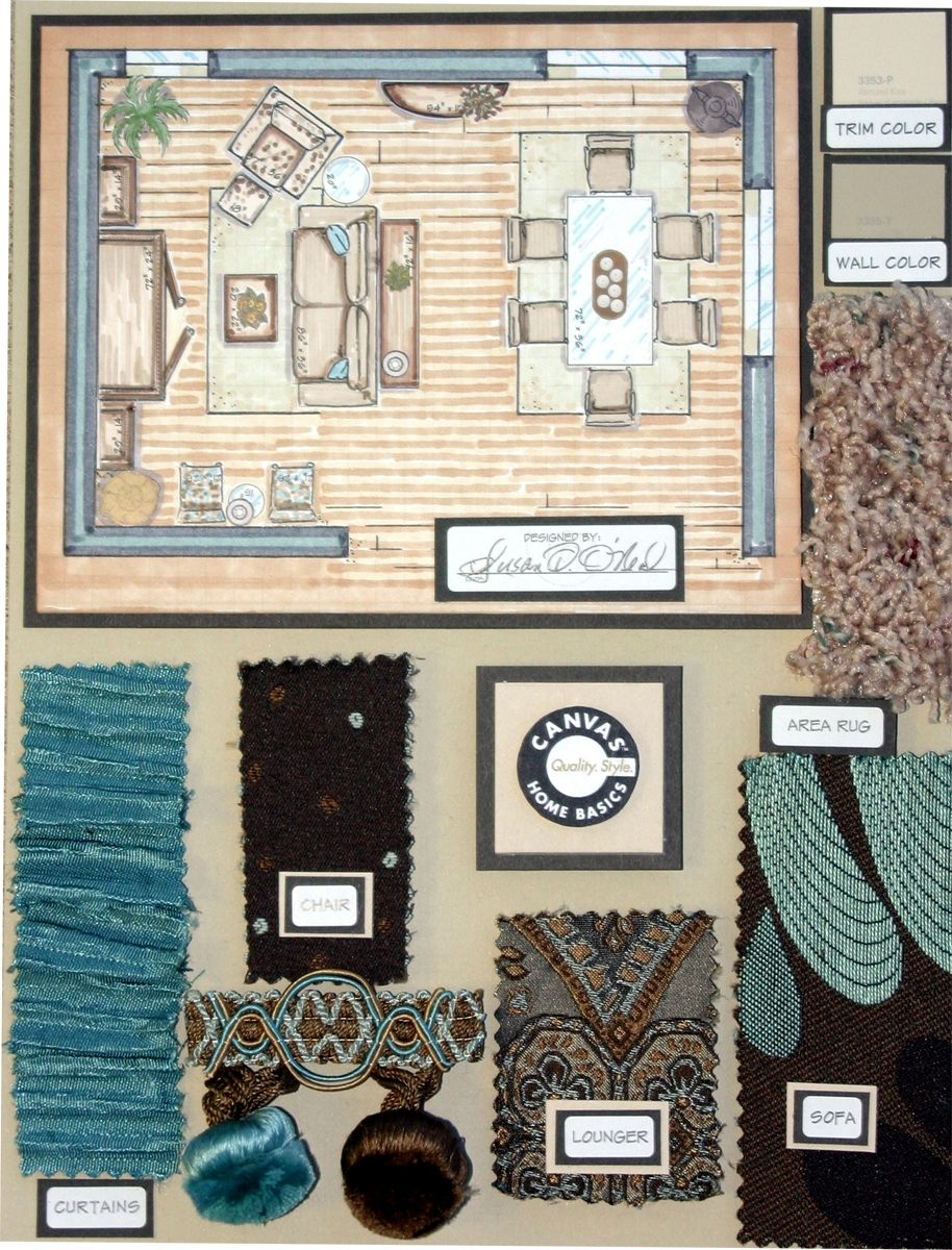 Interior Design Board This Sample Not Only Incorporates Samples But Also A
