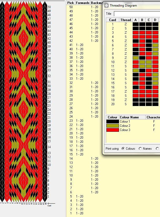 20 tarjetas, 3 colores, comienza con 5F y luego secuencias 9B-9F  // sed_76    ༺❁