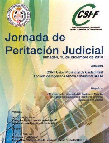 Jornada de peritación judicial en Almadén promovida por CSI-F y la Escuela de Ingeniería Minera de Almadén