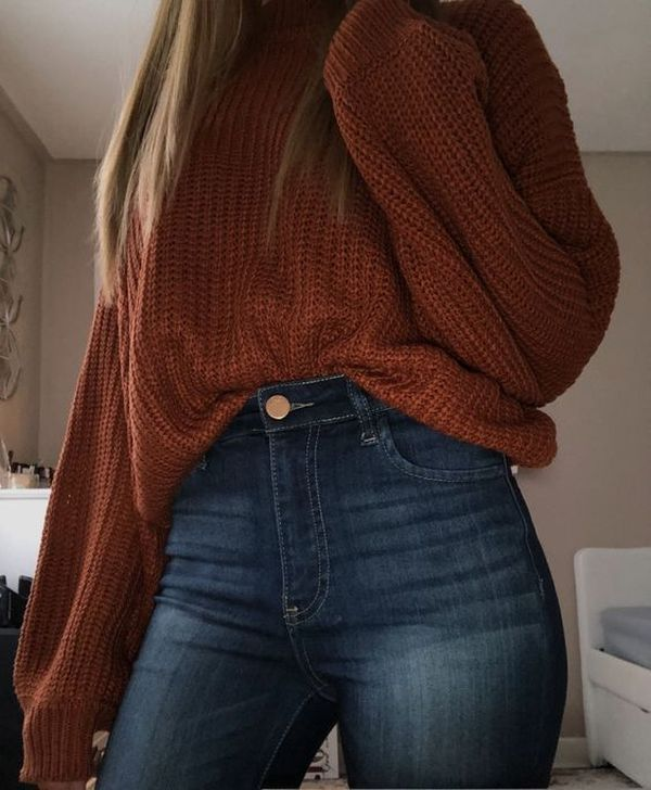 99 Fabulous Fall Outfits Ideas To Wear Everyday #sweateroutfits