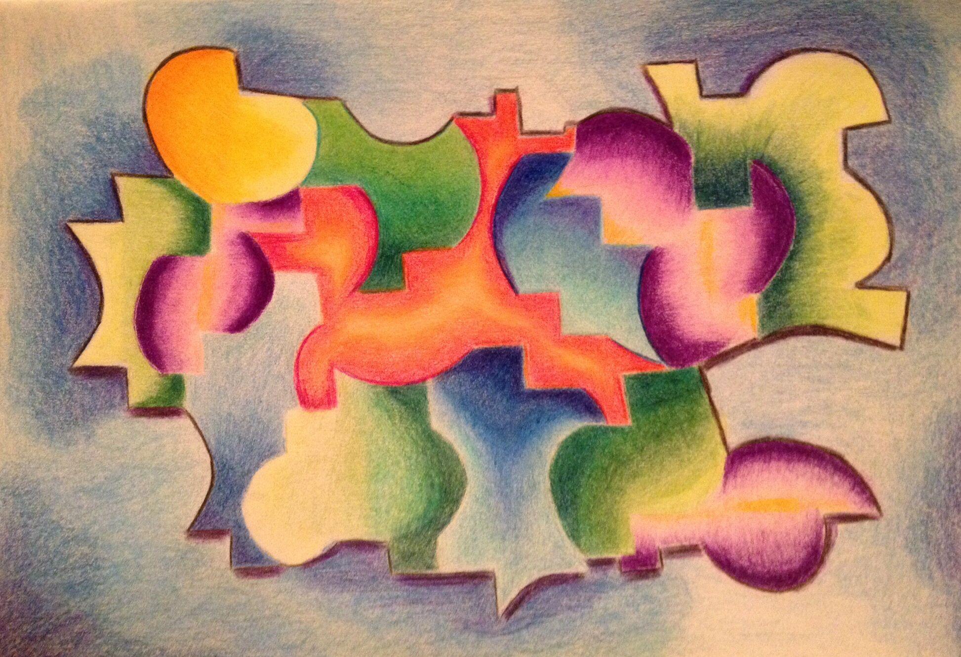 'De 4 elementen' Kleurpotloden 2014