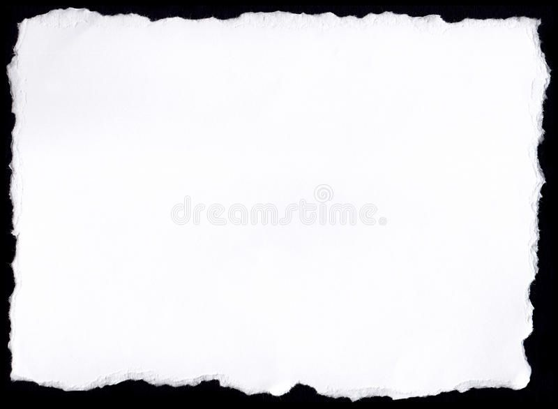 Paper Tear White Paper With Ripped Edges On Black Background Affiliate White Paper Paper Tear Black Ad Paper Stock Photos Photo