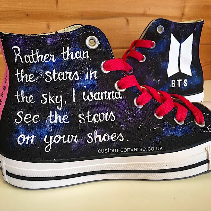 BTS Galaxy Converse High   Galaxy converse, Converse, Custom converse