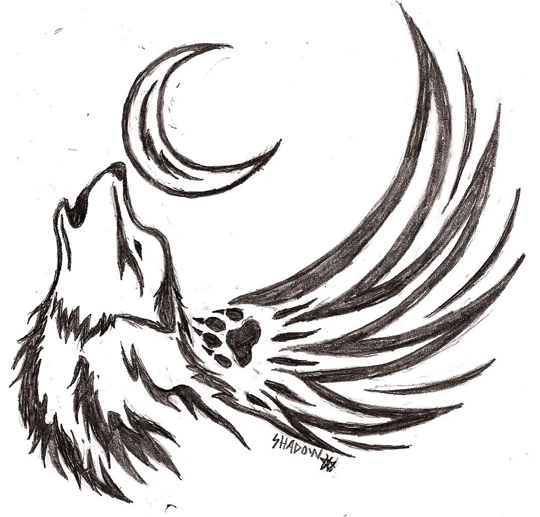 Howling Wolf Tattoo Designs Howling Wolf Tattoo By Shiranui1 On Deviantart Howling Wolf Tattoo Tribal Wolf Tattoo Small Wolf Tattoo