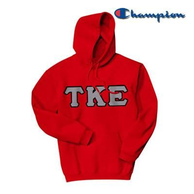 f546a4e79725 Tau Kappa Epsilon Champion Hooded Sweatshirt - Champion S700 - TWILL ...