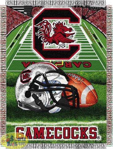 "Northwest South Carolina Gamecocks ""Home Field Advantage"" Tapestry Throw"