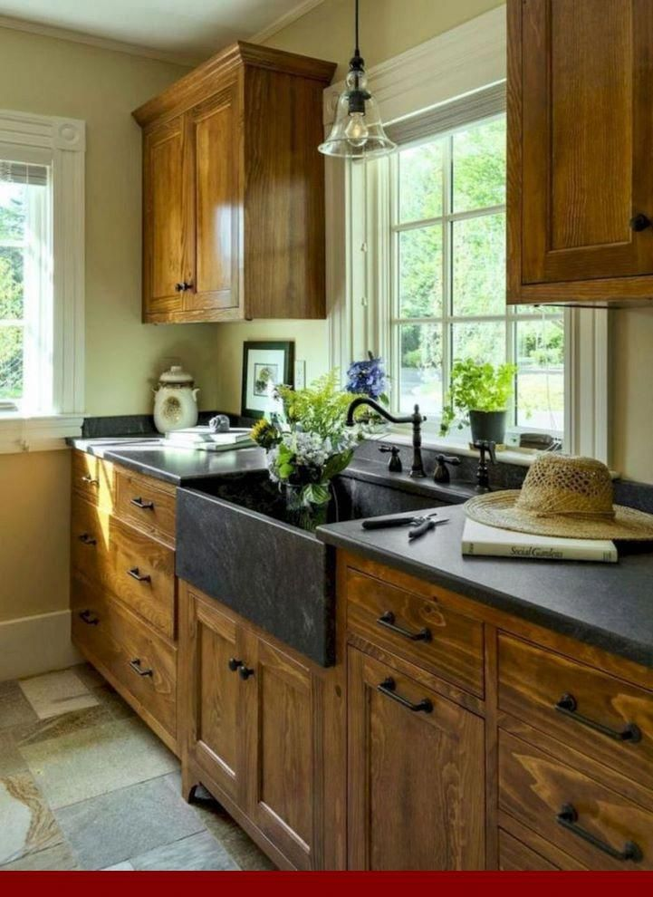 Using - honey oak cabinets stained dark. #oakkitchencabinets #cabinets #honeyoakcabinets