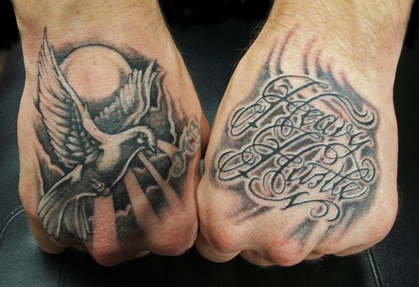 55 Peaceful Dove Tattoos Hand Tattoos For Guys Tattoo Font For Men Hand Tattoos
