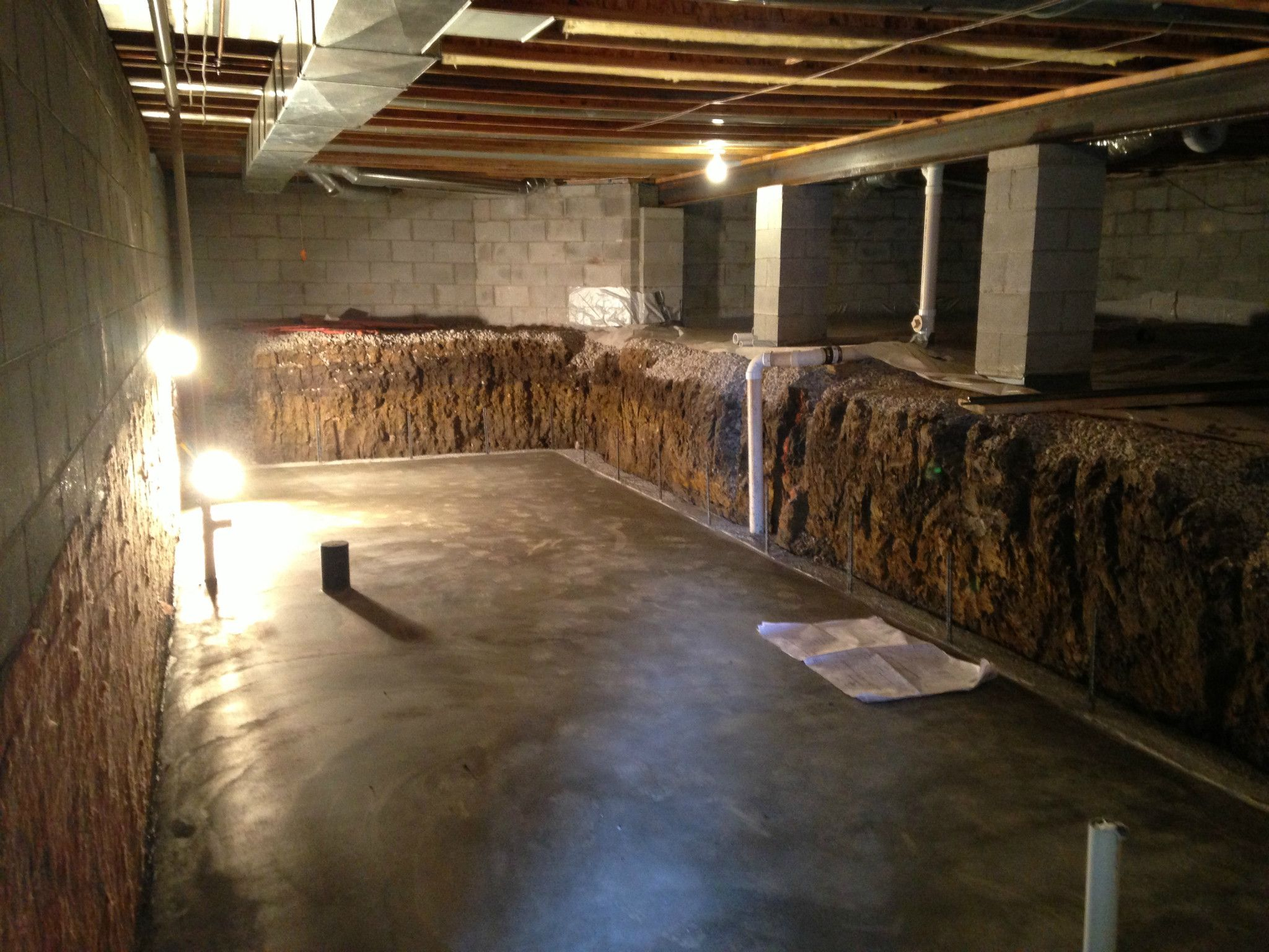 Crawl Space Dig Out To Make A Basement Columbus Pinteres