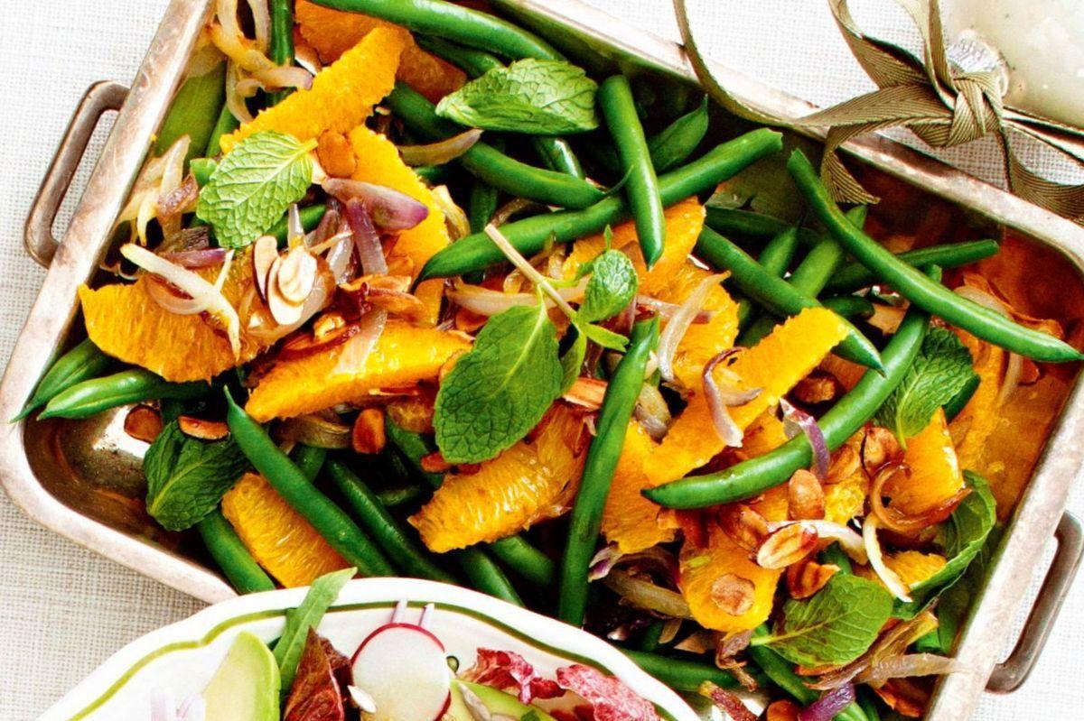Салат со стручковой фасолью и апельсином | Рецепт ...