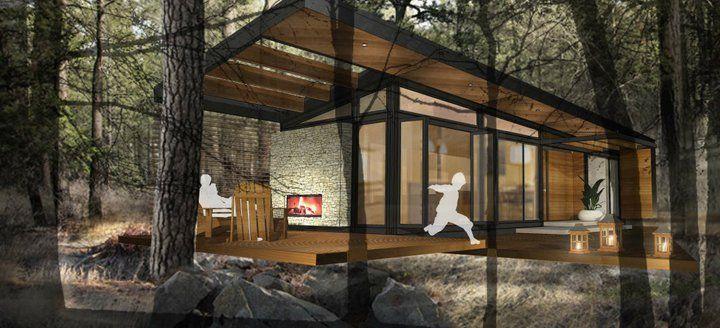 Karo Cabin Rendering | Cabin Ideas | Pinterest | Cabin, Modular