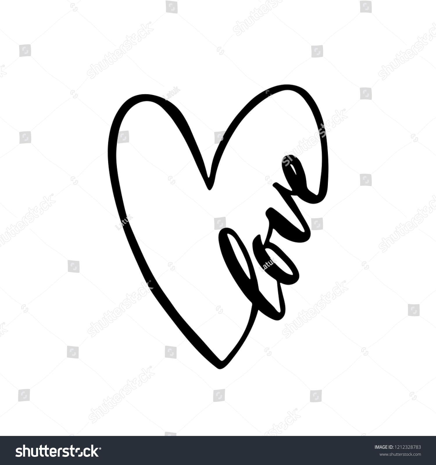 Sketch Of Heart Shape
