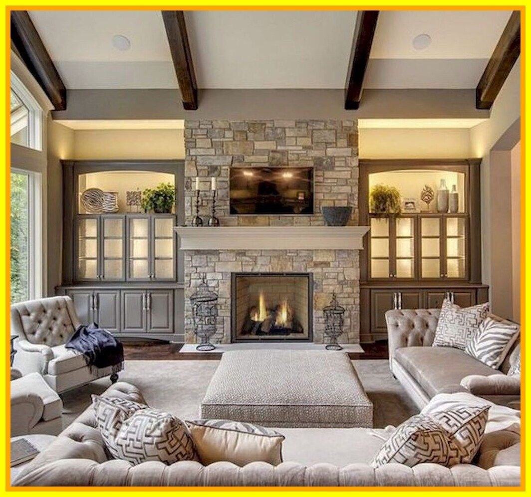 57 Reference Of Decorating Large Living Room With Fireplac