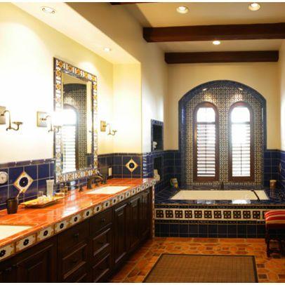 Mexican Tile Bathroom Images Google Search Small Bathroom Decor Mediterranean Bathroom Design Ideas Mexican Tile Bathroom