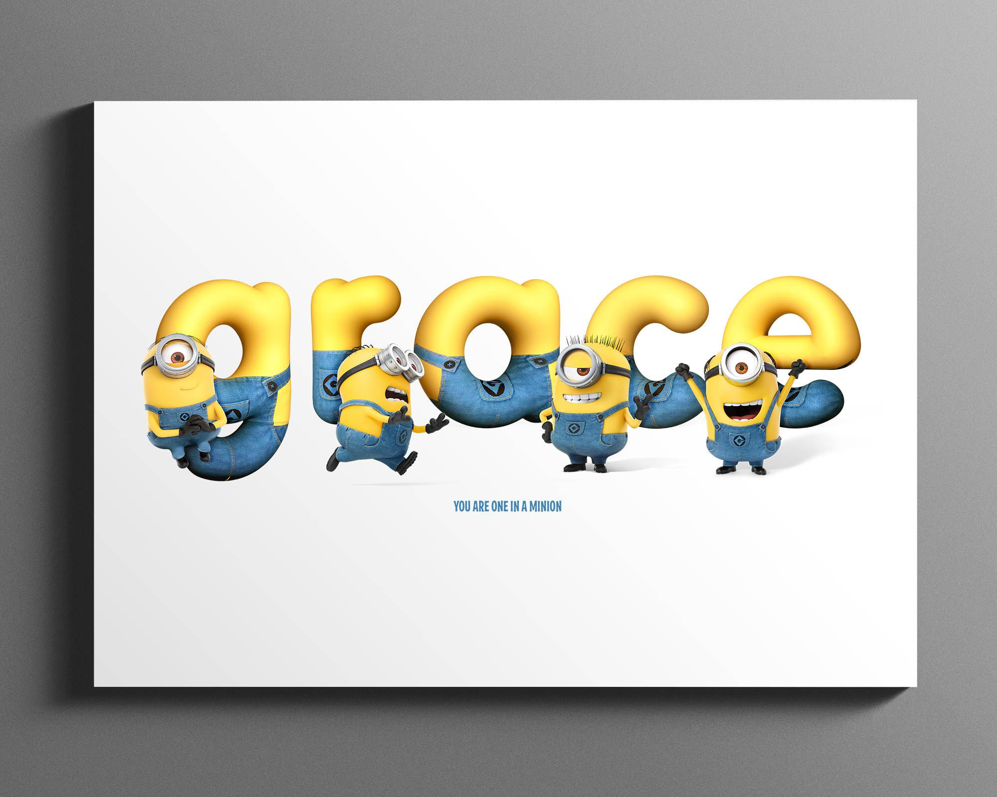 Minion name art personalised name sign nursery wall art minion name art personalised name sign nursery wall art minion baby gift negle Image collections