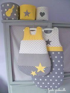deco-BB-gris-jaune-Guili-gribouille | Bébé | Pinterest | Couleurs ...