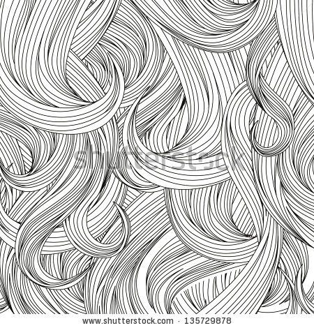 Hair outlined background - stock vector