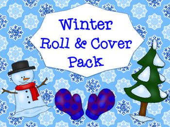 This pack is back by popular demand!  There are 6 winter themed mats to last from December through February!  Children need one die or a pair of die to use.  Perfect addition to math stations, centers, or resource rooms as it can be used independently or as a partner activity.