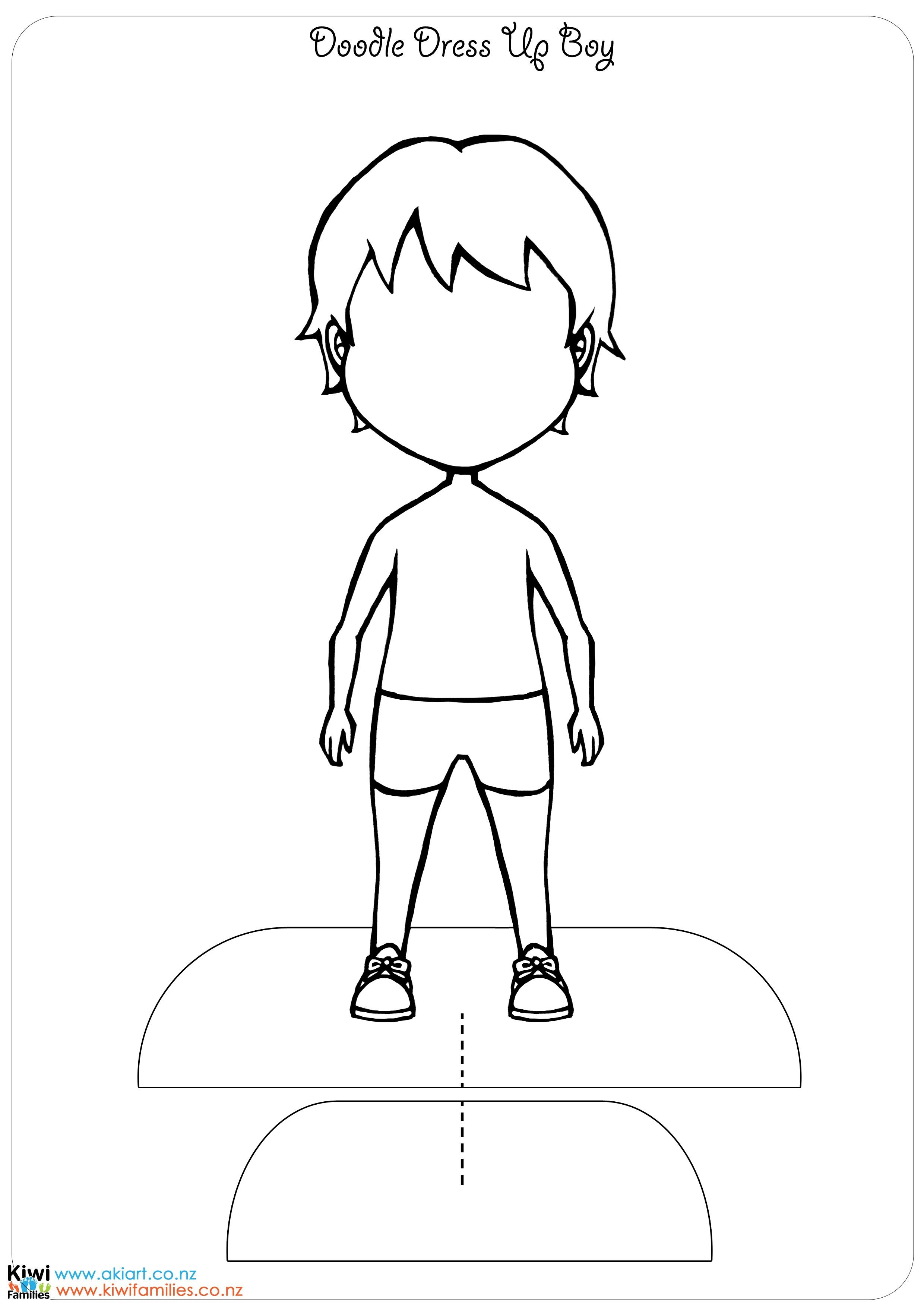 Make your own paper dolls Paper doll template, Paper