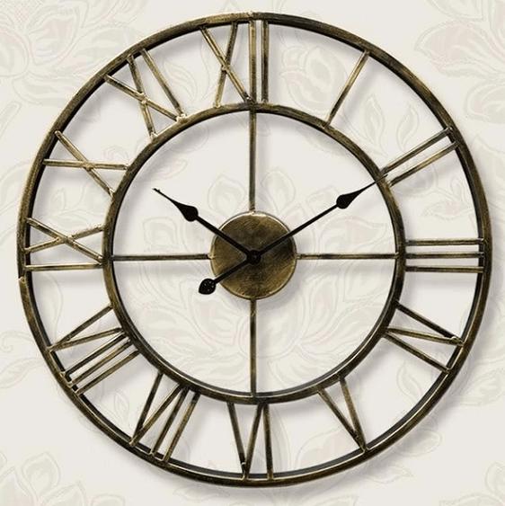 Pallas Vintage Wall Clock In 2020 Industrial Clock Wall Wall Clocks Living Room Vintage Wall Clock