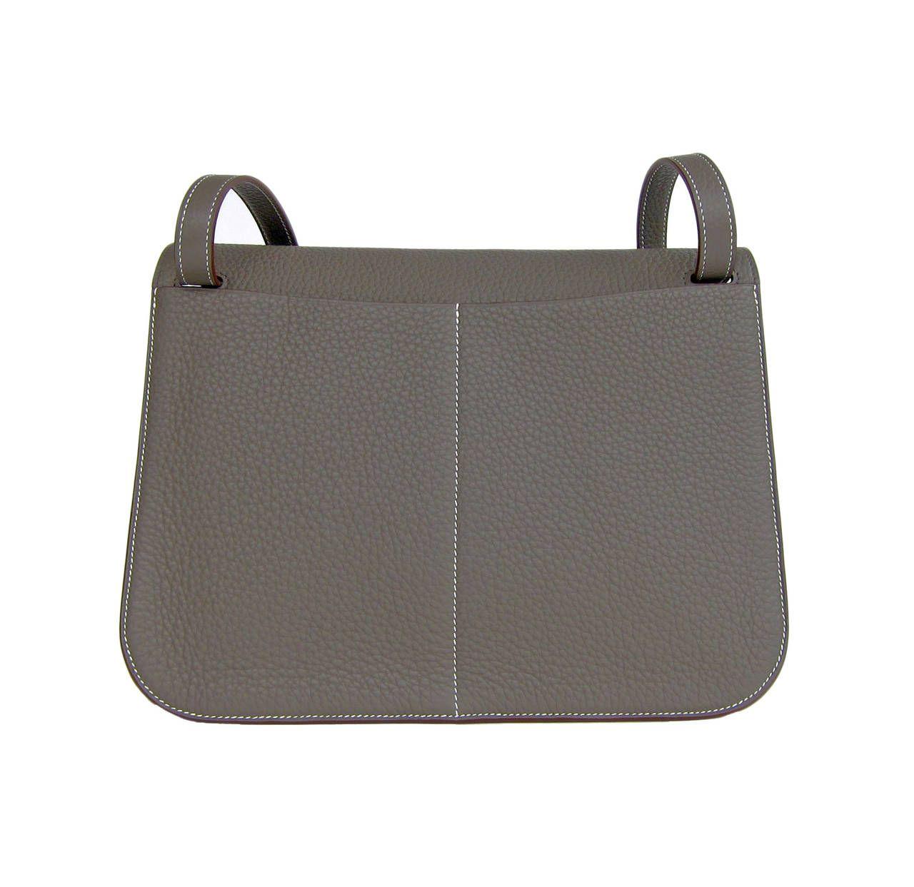 Hermes Etain Grey Halzan 4-way Clemence Crossbody Bag   From a collection  of rare b208dfb27e