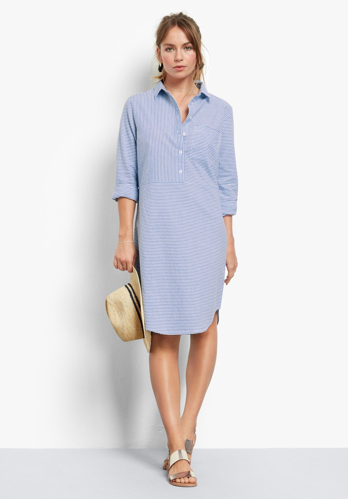 f4f912c11 Buy Porto Striped Tunic Dress from Hush: Set the trend this summer in our  striped tunic shirt dress. With roll up sleeves, a rounded hem and contrast  panels ...