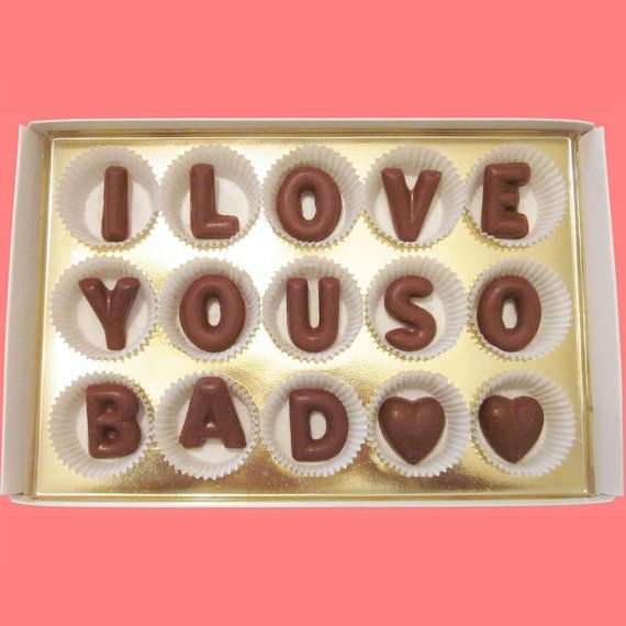 I Love You So Bad Large Milk Chocolate Letters Romantic Long