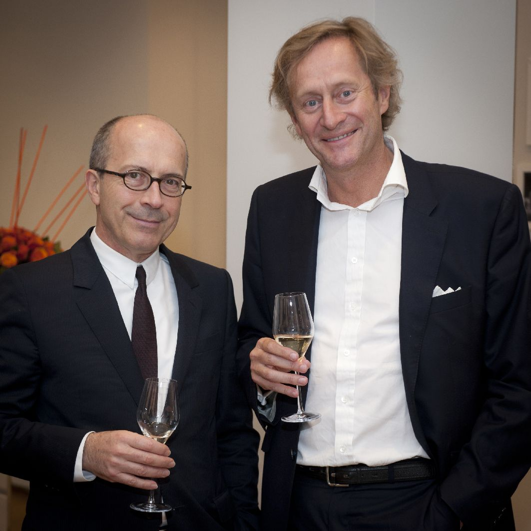 Jean-Marc Loubier - François Schwennicke - The #Delvaux private dinner in #Antwerp in June 2015