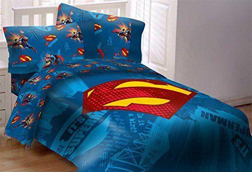 Superman Emblem 5 Piece Reversible Super Soft Luxury Full Size