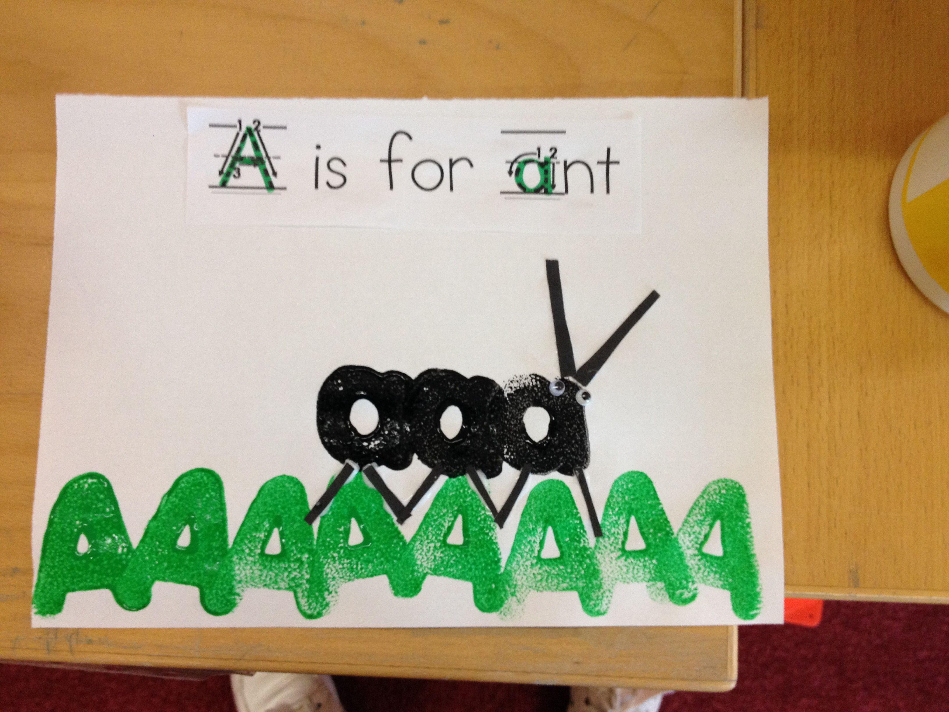The Letter A Preschool Kindergarten Activity Craft A Is