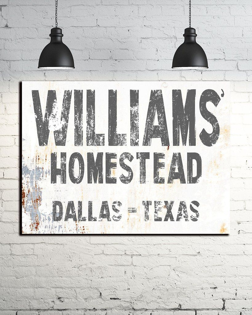 Family name sign homestead sign farmhouse decor wall art