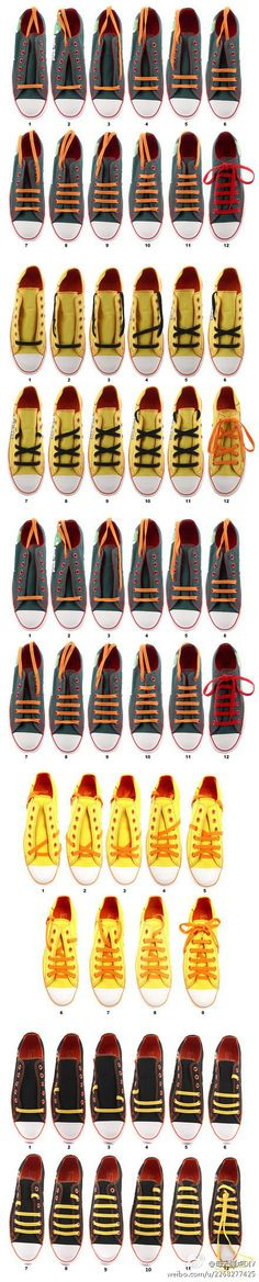 many ways to tie shoe laces