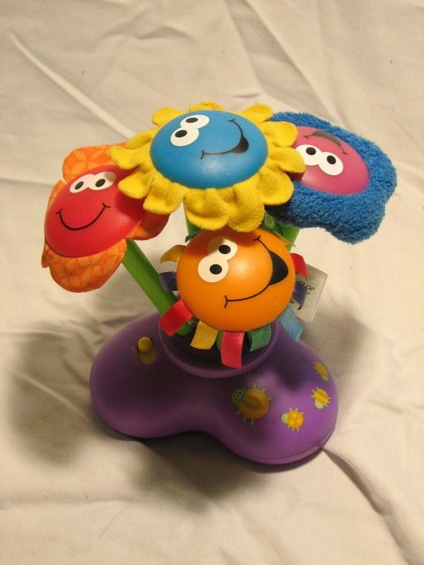 Lamaze Chime Garden Learning Toy 5 Colorful Flowers Music Lights 3
