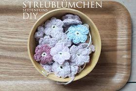Photo of Seidenfeins Blog aus dem schönen Landleben: zerstreute Blumen häkeln * DIY * häkeln …