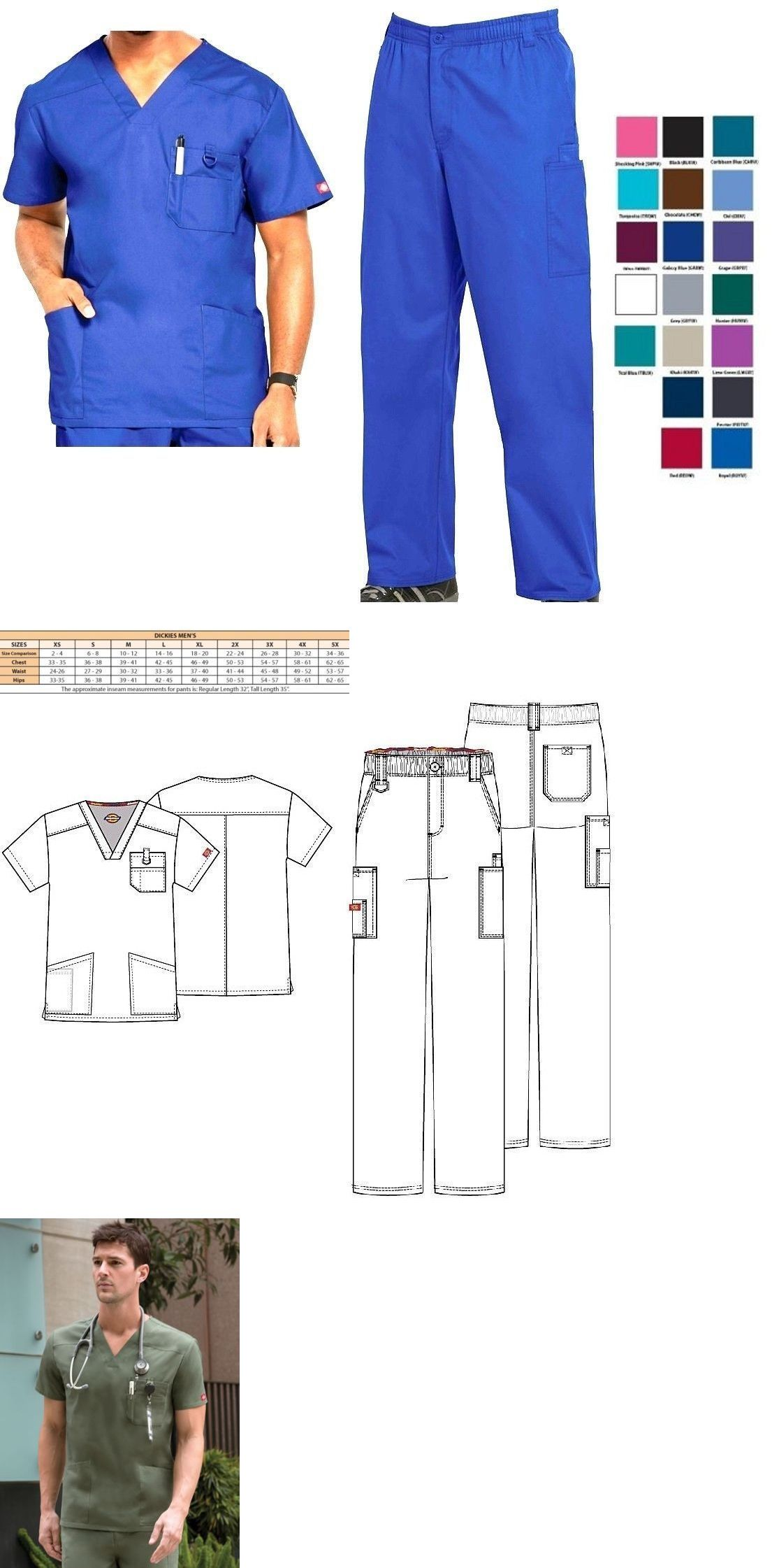 595a6b52777 Sets 105432: Dickies Mens Scrubs Eds Signature Sets Top 81906 Pants 81006  All Colors All Size -> BUY IT NOW ONLY: $43.96 on #eBay #dickies #scrubs ...