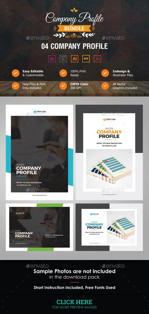 Company Profile Bundle Company Profile Corporate Brochure And