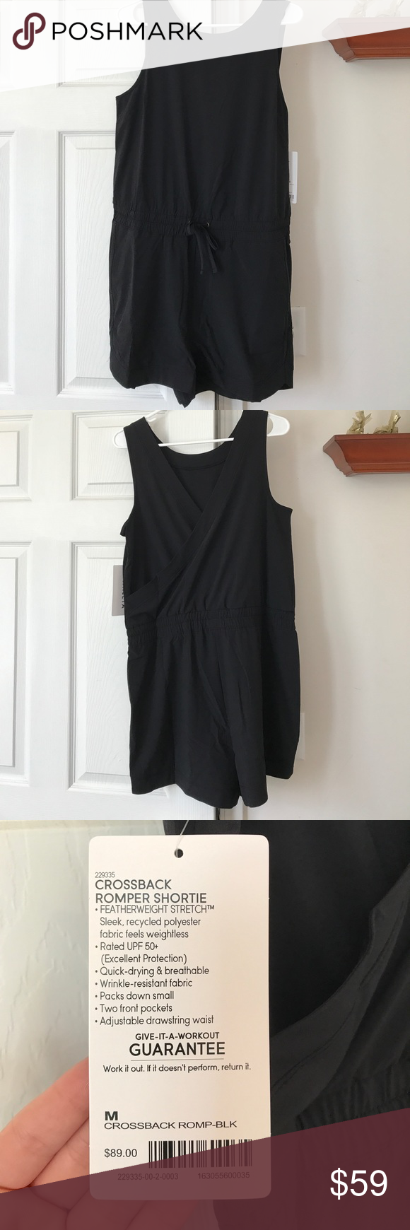 91a8a10facc7 Atheleta Crossback Romper New With Tags Size Medium Athleta Other