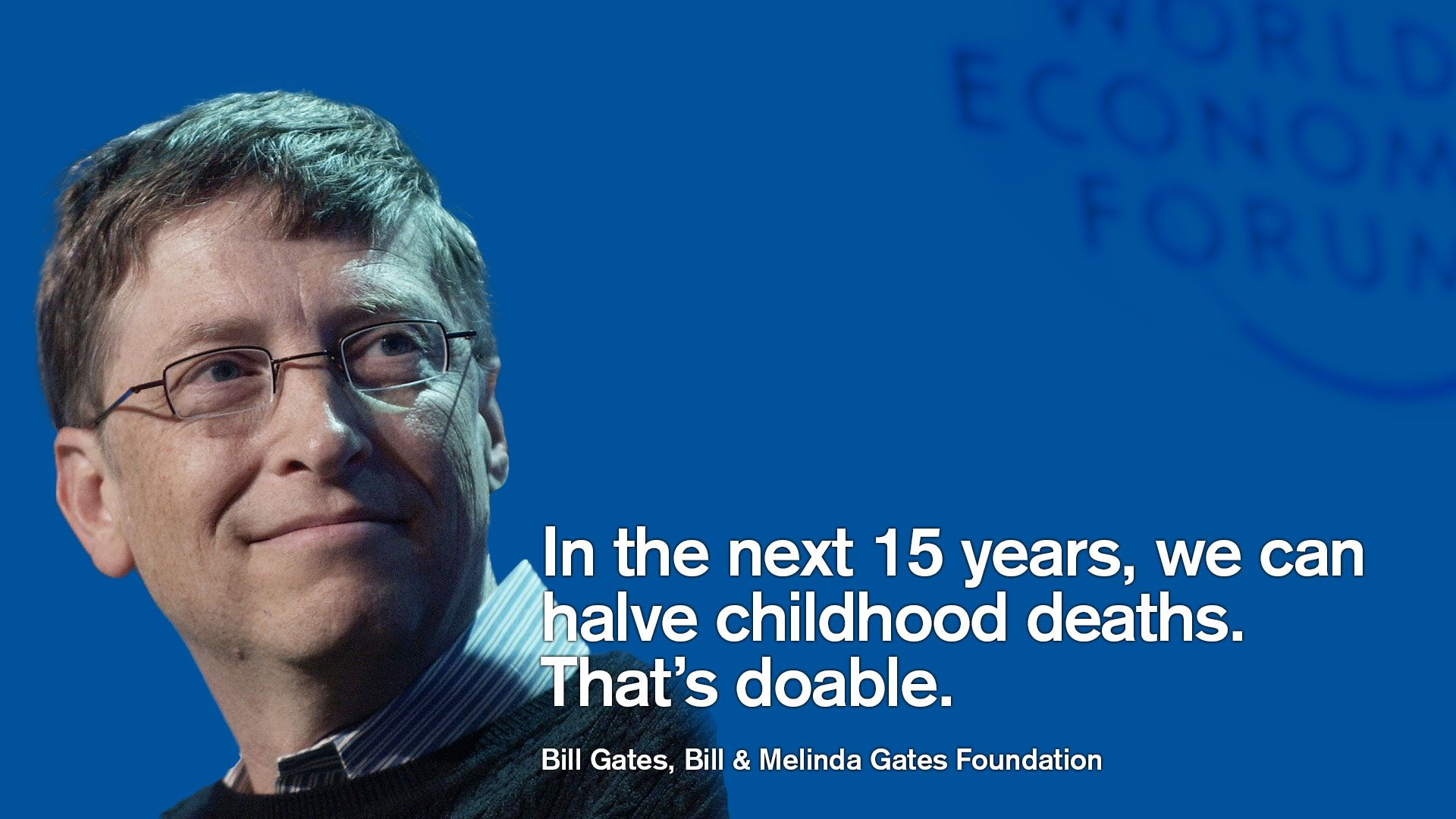 Bill Gates Bill & Melinda Gates Foundation at the World Economic