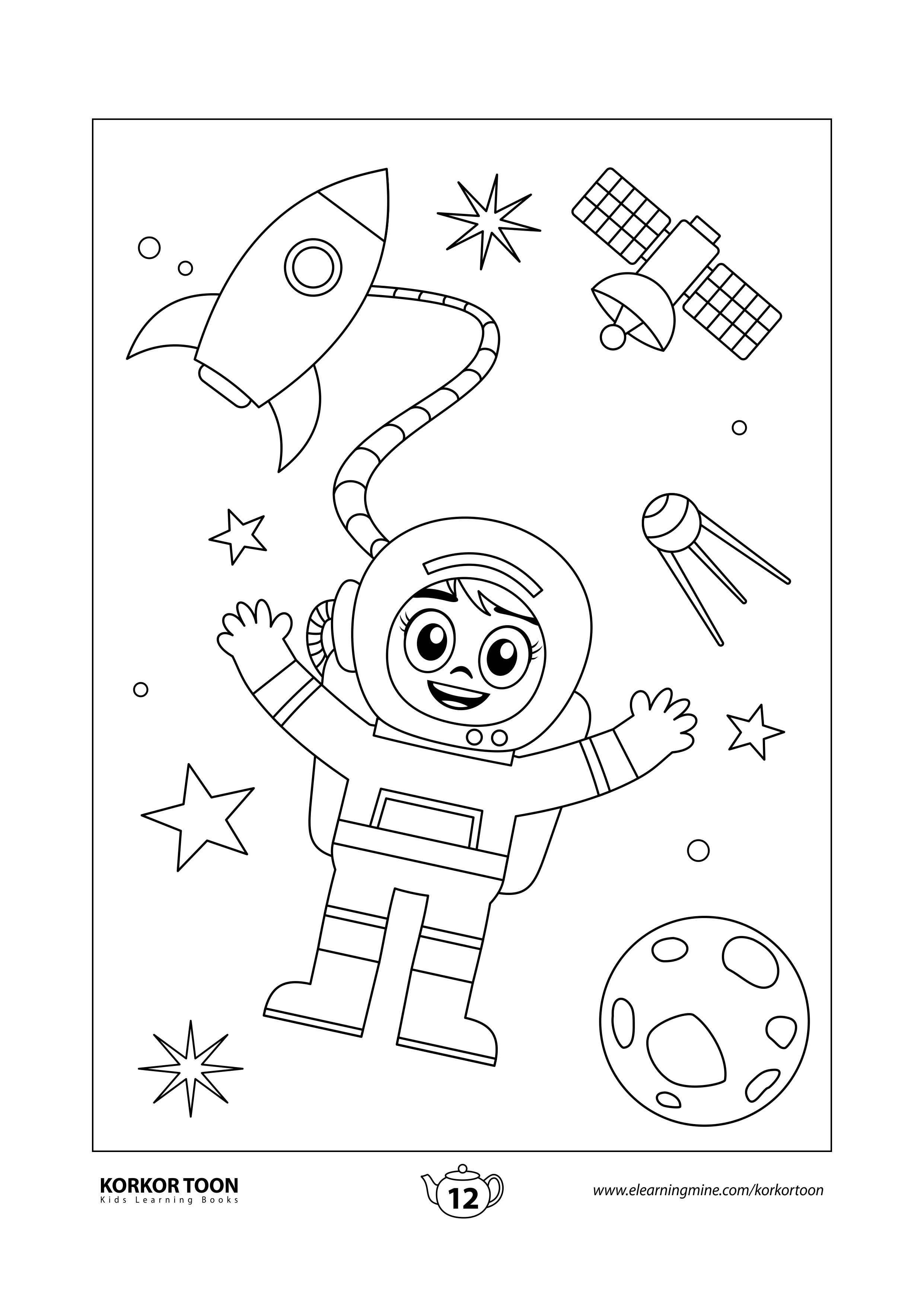 Solar System Coloring Book For Kids