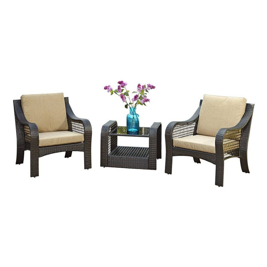 Home Styles Lanai Breeze 3-Piece Wicker Patio Conversation Set  sc 1 st  Pinterest & Home Styles Lanai Breeze 3-Piece Wicker Patio Conversation Set | My ...