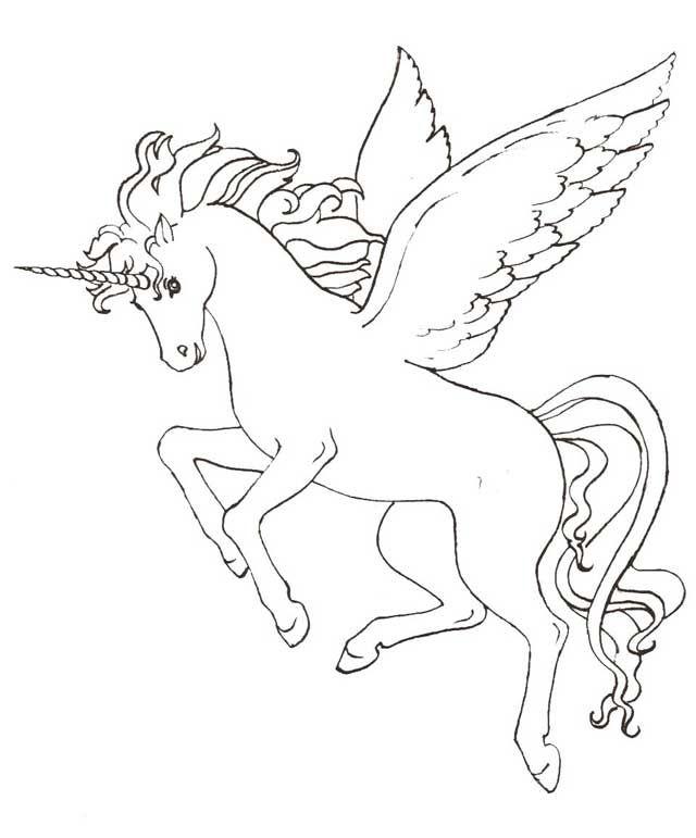 Dibujos De Unicornios Con Alas Para Colorear E Imprimir Dibujos De Unicornios Paginas Para Colorear De Animales Unicornios Para Pintar